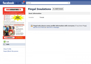 Facebook Marketing mistake #2 -Fingal Insulations 1