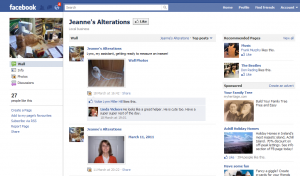 Facebook marketing mistake #3 -Jeanne's Alterations