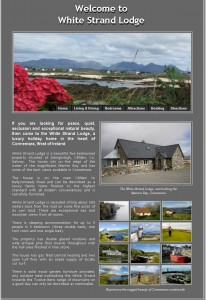 A website for the owner of a holiday home in Connemara