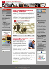 homepage snapshot of Insurance Claim Solutions