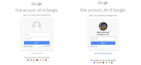 Fake and Real Google Account Login